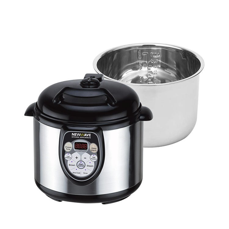 New Wave 5-in-1 Multi Cooker with Spare Stainless Steel Bowl 6L