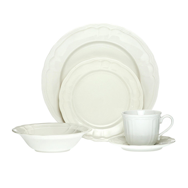 Noritake Baroque White 20pc Dinner Set