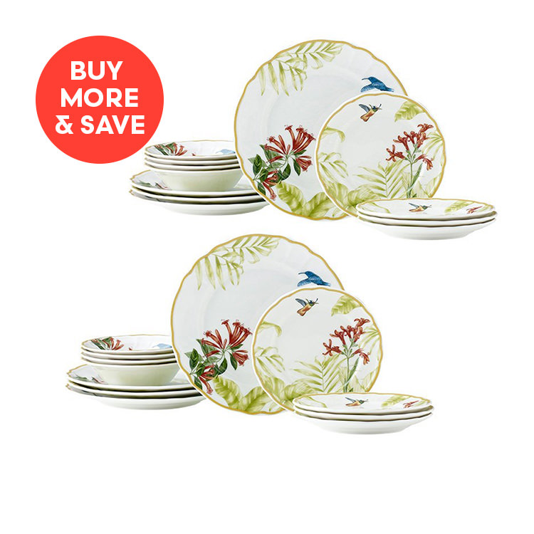 Noritake Hummingbird Meadow 12pc Dinner Set (2 Sets)