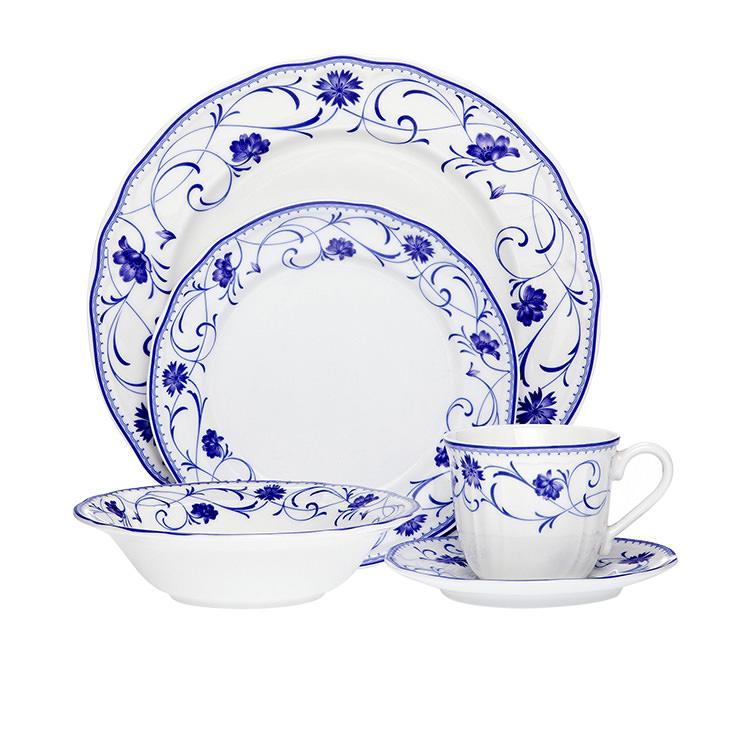 Noritake Rhapsody Blue Dinner Set 20pc