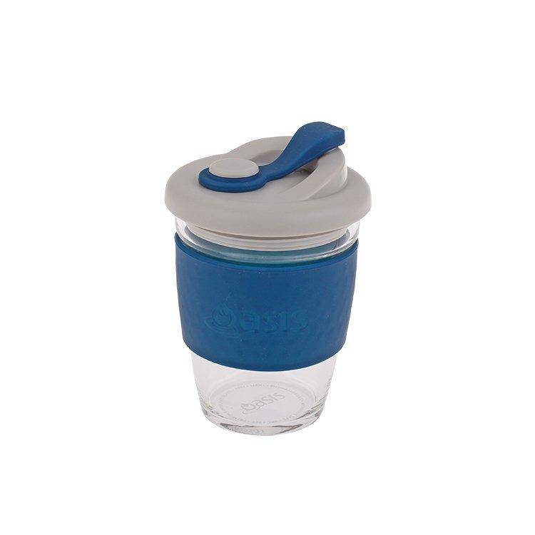 Oasis Borosilicate Glass Eco Cup 340ml Navy