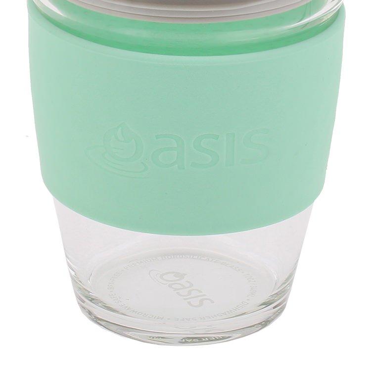 Oasis Borosilicate Glass Eco Cup 340ml Spearmint