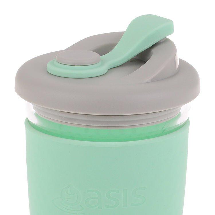 Oasis Borosilicate Glass Eco Cup 454ml Spearmint