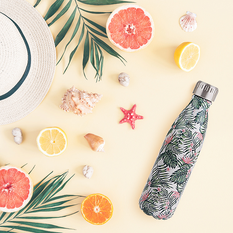 Oasis Double Wall Insulated Drink Bottle 500ml Bird Of Paradise