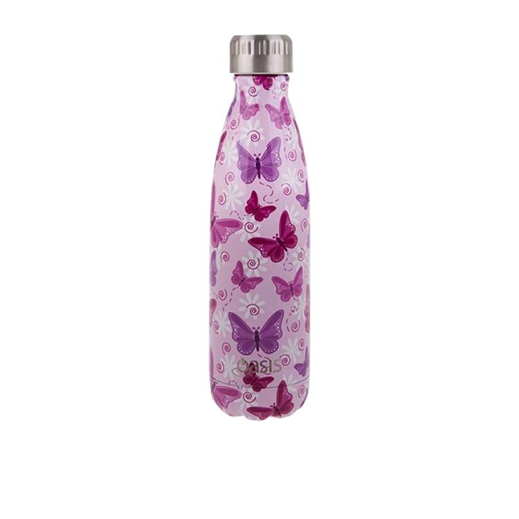 Oasis Double Wall Insulated Drink Bottle 500ml Butterflies