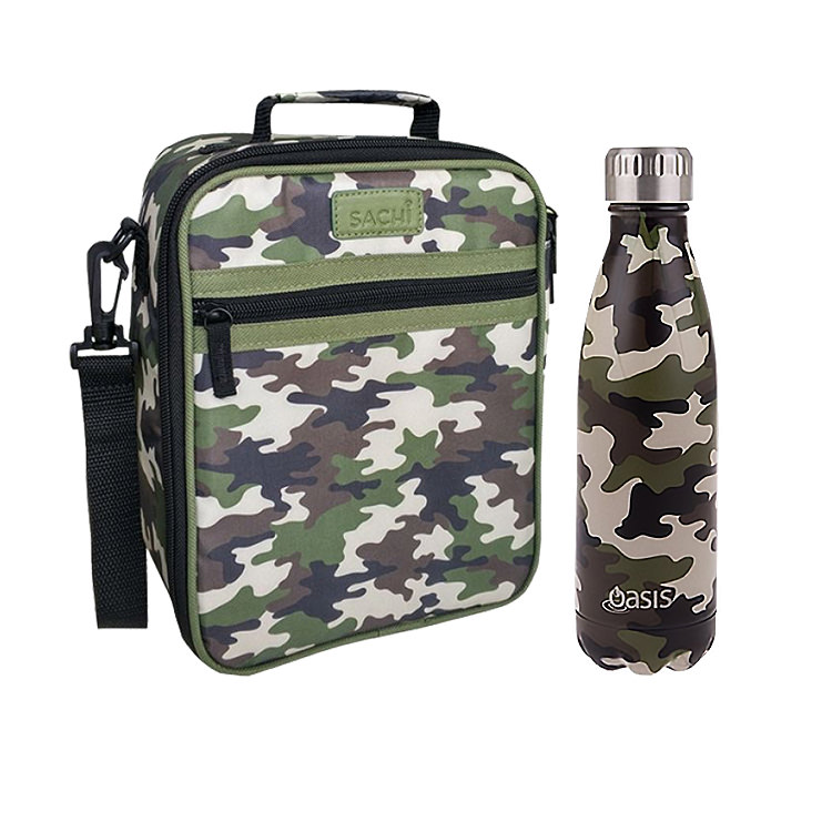 Oasis Double Wall Insulated Drink Bottle 500ml Camo Green