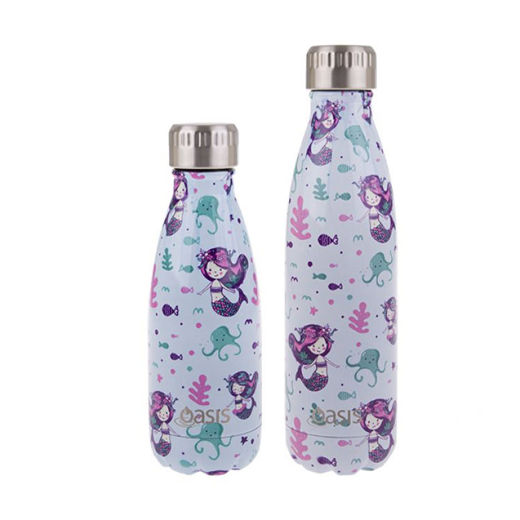 Oasis Double Wall Insulated Drink Bottle 500ml Mermaids