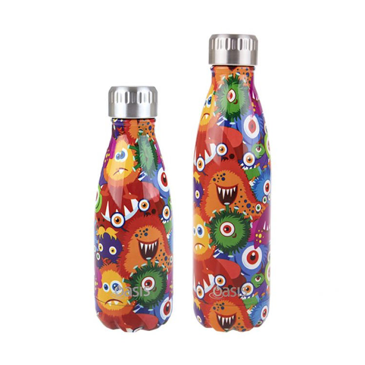 Oasis Double Wall Insulated Drink Bottle 500ml Monsters