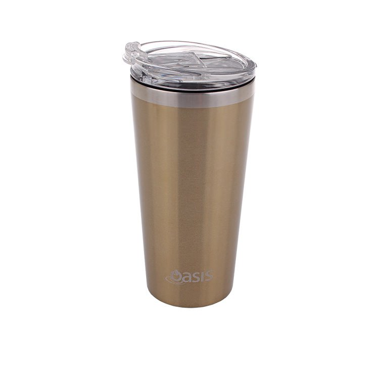 Oasis Double Wall Insulated Travel Mug 480ml Champagne