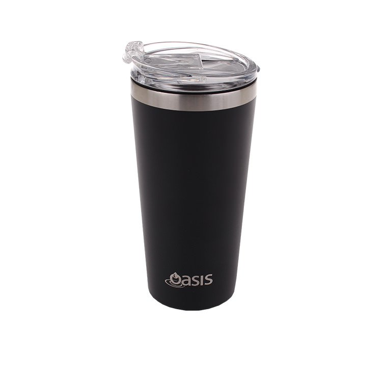 Oasis Double Wall Insulated Travel Mug 480ml Matte Black
