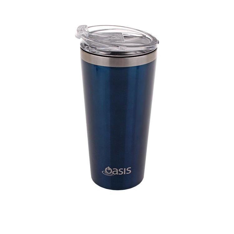 Oasis Double Wall Insulated Travel Mug 480ml Navy