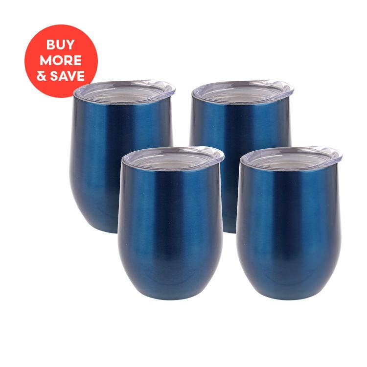 Oasis Double Wall Wine Tumbler 330ml Sapphire (4pcs)