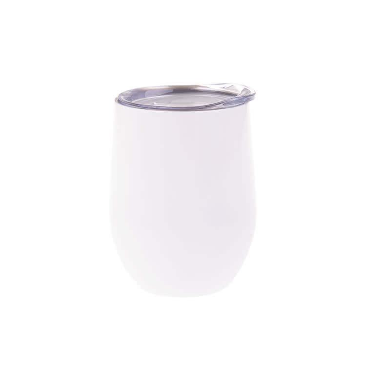Oasis Pastel Stainless Steel Double-Walled Wine Tumbler 330ml White