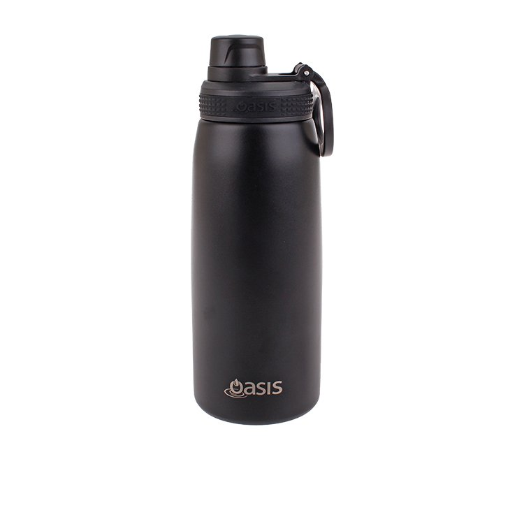 Oasis Double Wall Insulated Sports Bottle 780ml Black
