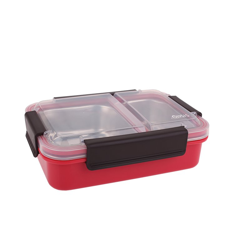 Oasis Lunch Box 2 Compartment 23x16.5x7cm Watermelon