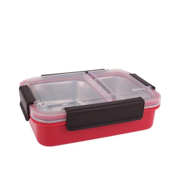 Oasis Lunch Box 2 Compartment 23x16.5x7cm Watermelon