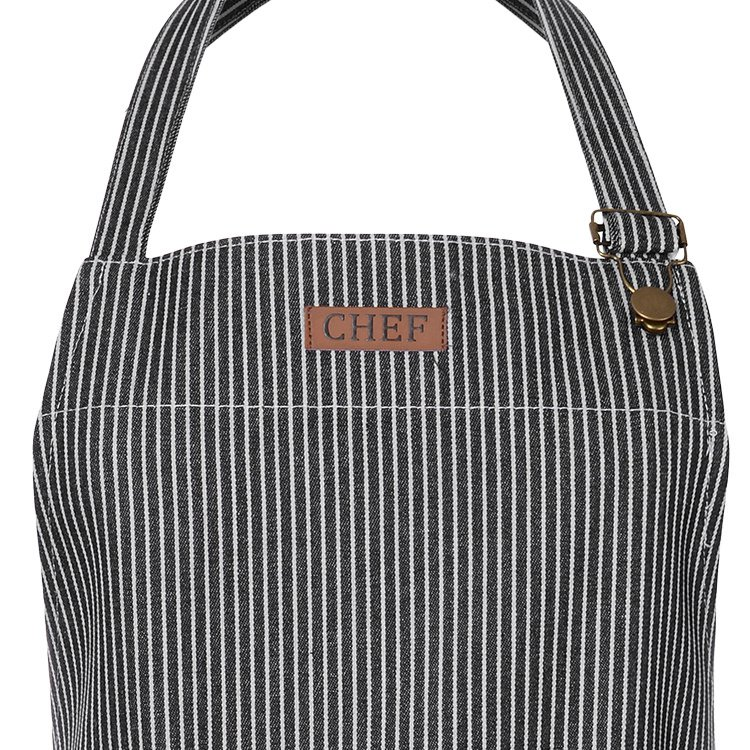 Ogilvies Designs Chef Stripe Apron Navy