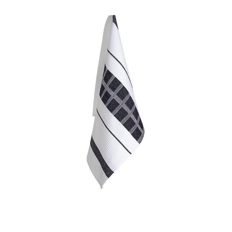 Ogilvies Designs Cubix Tea Towel Black