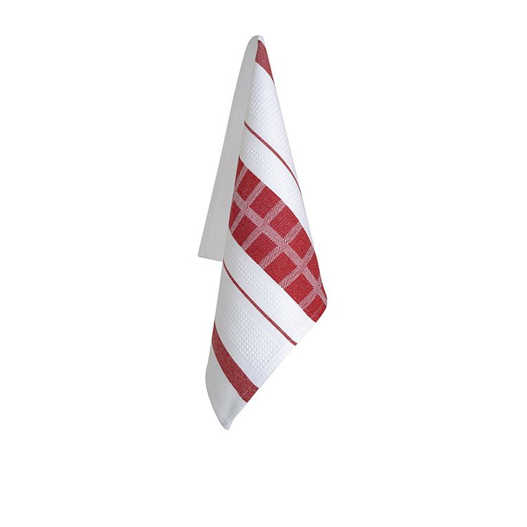 Ogilvies Designs Cubix Tea Towel Red