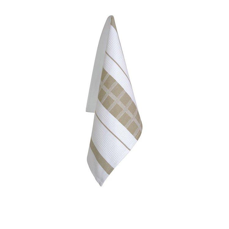 Ogilvies Designs Cubix  Tea Towel Stone