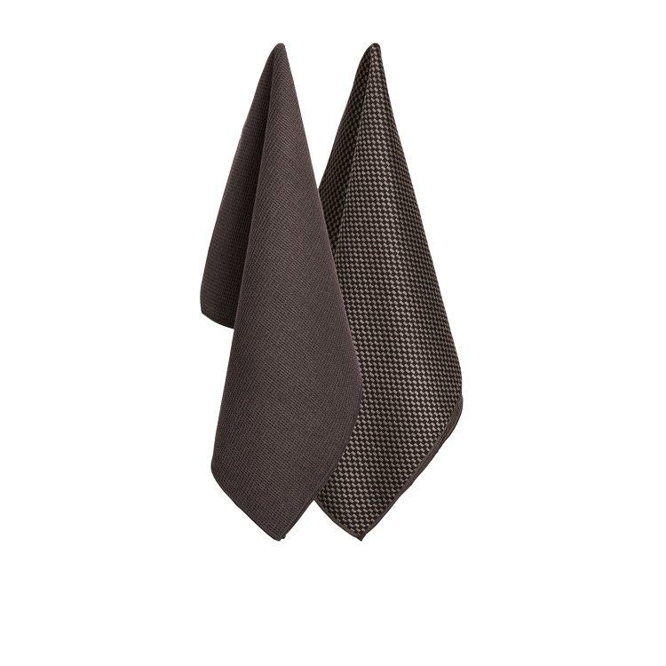 Ogilvies Designs Micro Tea Towels Set of 2 Grey