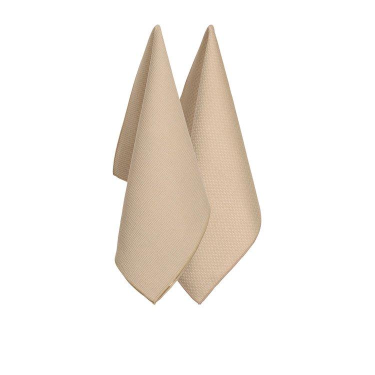 Ogilvies Designs Micro Tea Towels Set of 2 Stone