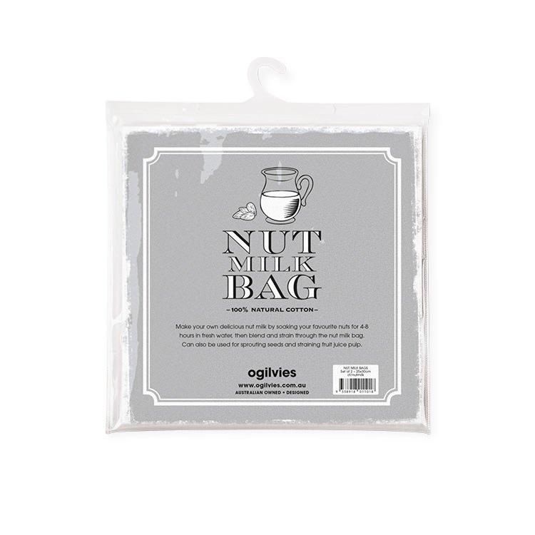 Ogilvies Designs Nut Milk Bag 2pc