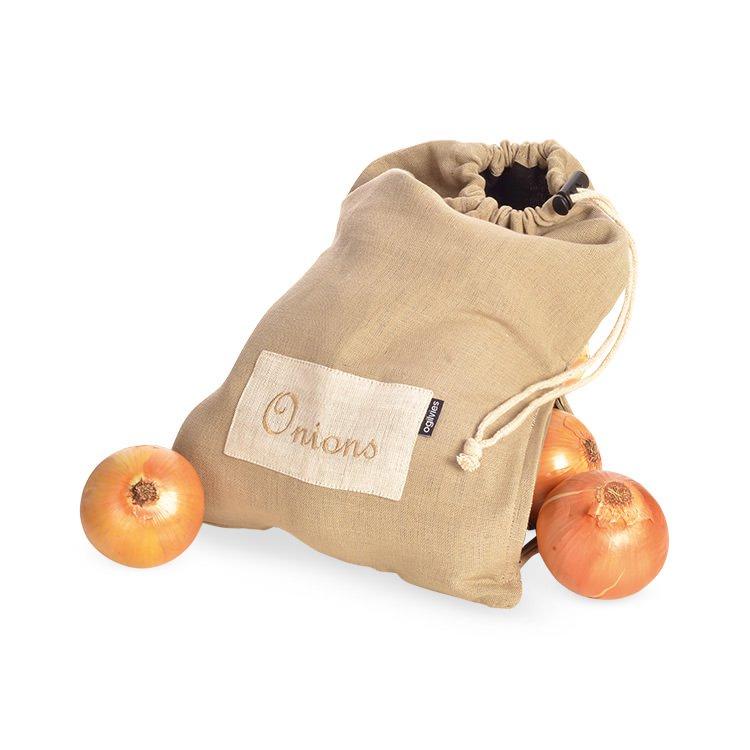 Ogilvies Designs Provincial Linen Onion Bag