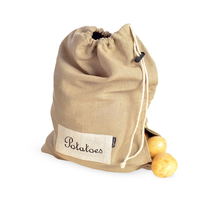 Ogilvies Designs Provincial Linen Potato Bag