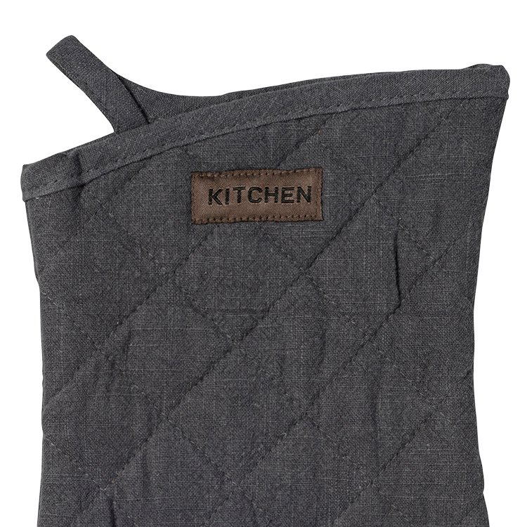 Ogilvies Designs Ramie Eco Oven Glove  Charcoal