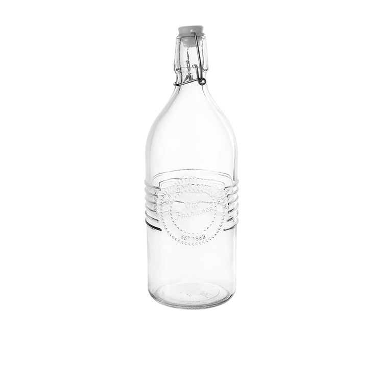 Old Fashioned Clip Top Water Bottle 1L