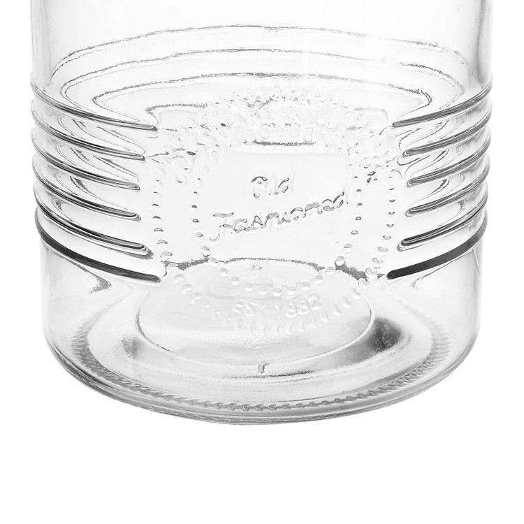 Old Fashioned Cookie Jar w/ Glass Lid 2L