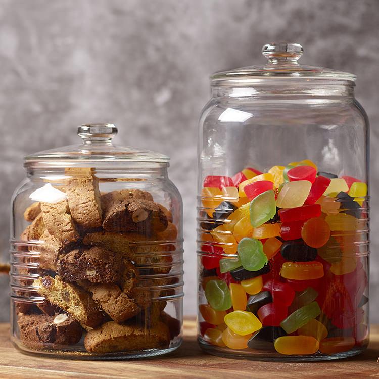 Old Fashioned Cookie Jar w/ Glass Lid 3L