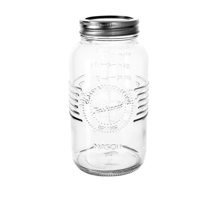 Salisbury & Co Old Fashioned Mason Jar w/ 2pc Lid 1L