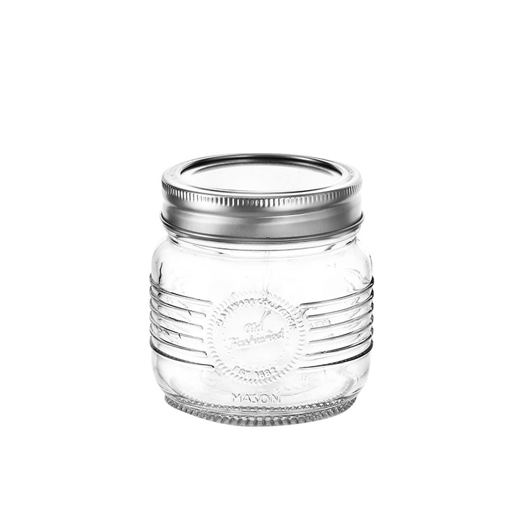 Old Fashioned Mason Jar w/ 2pc Lid 250ml