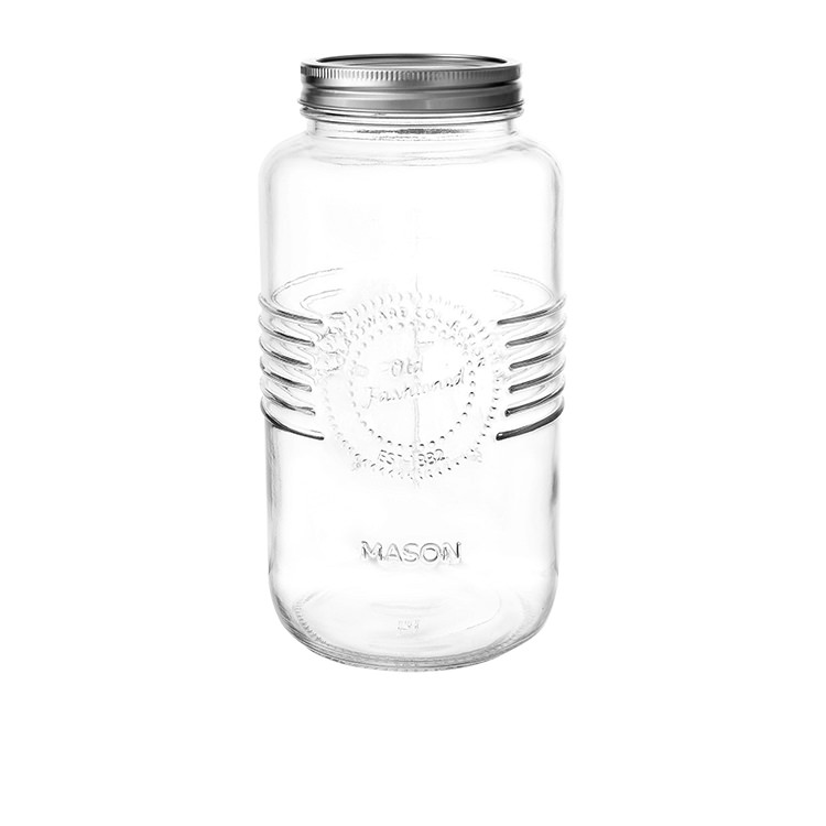 Salisbury & Co Old Fashioned Mason Jar w/ 2pc Lid 2L