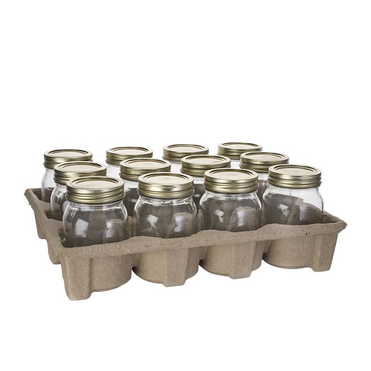 Old Fashioned Mason Jar w/ 2pc Lid 500ml Set of 12