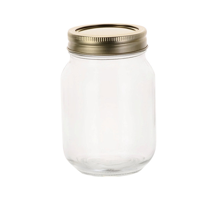 Old Fashioned Mason Jar w/ 2pc Lid 500ml Set of 12