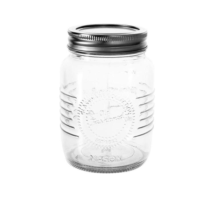 Old Fashioned Mason Jar w/ 2pc Lid 500ml