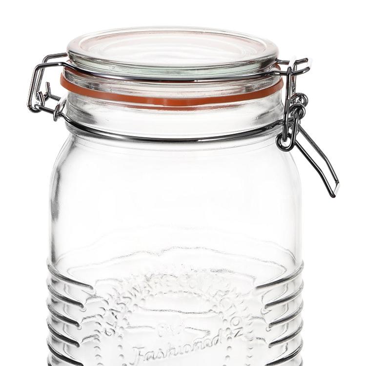 Old Fashioned Round Clip Top Jar 1.5L