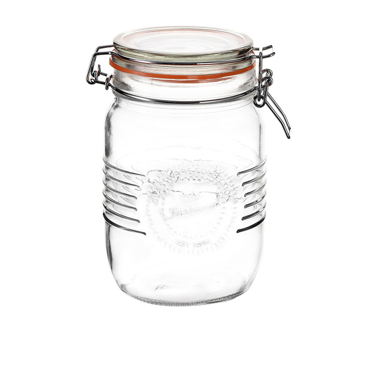 Salisbury & Co Old Fashioned Round Clip Top Jar 1L