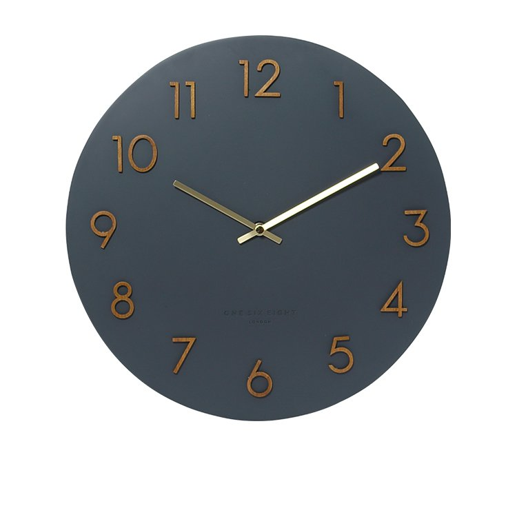 One Six Eight London Evie Silent Wall Clock 35cm Charcoal