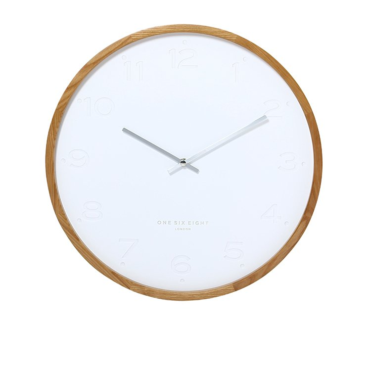 One Six Eight London Freya Silent Wall Clock 35cm White