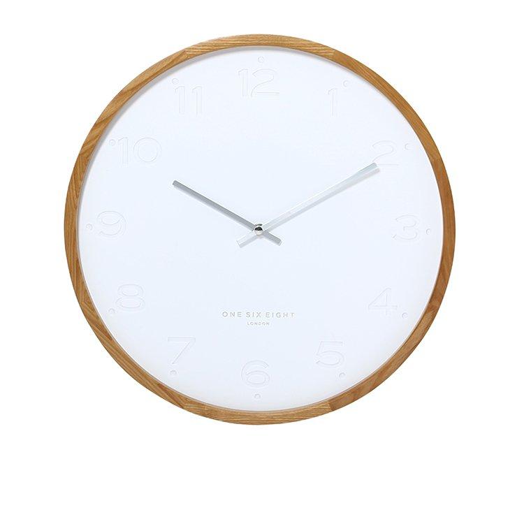 One Six Eight London Freya Silent Wall Clock 35cm White