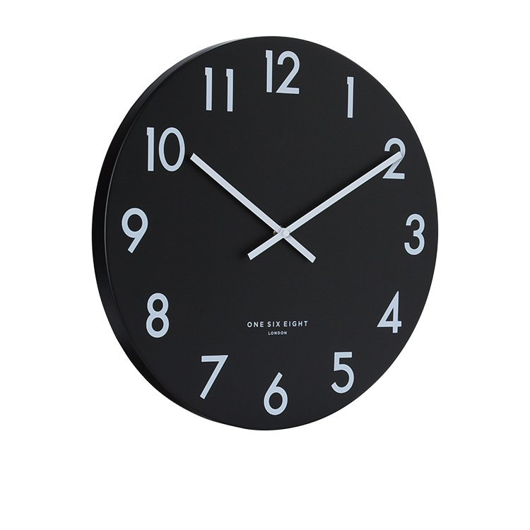 One Six Eight London Jackson Silent Wall Clock 30cm Black image #2