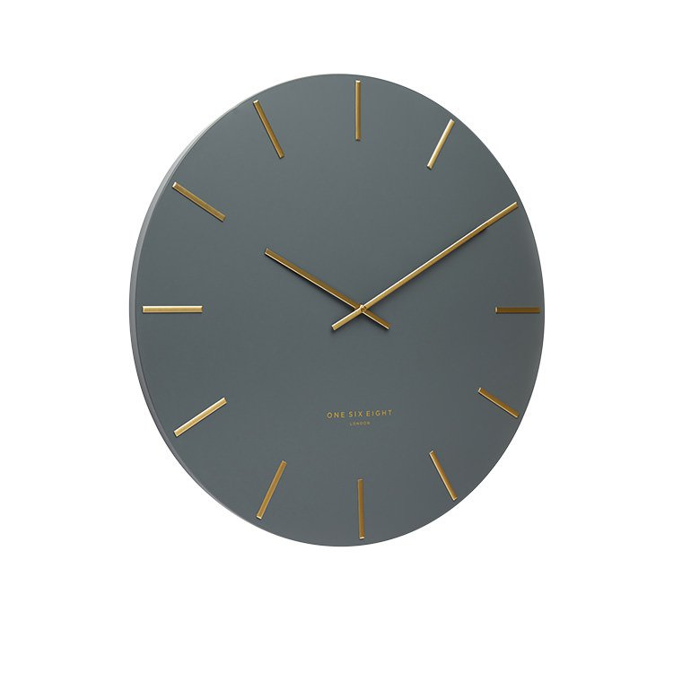 One Six Eight London Luca Silent Wall Clock 30cm Charcoal