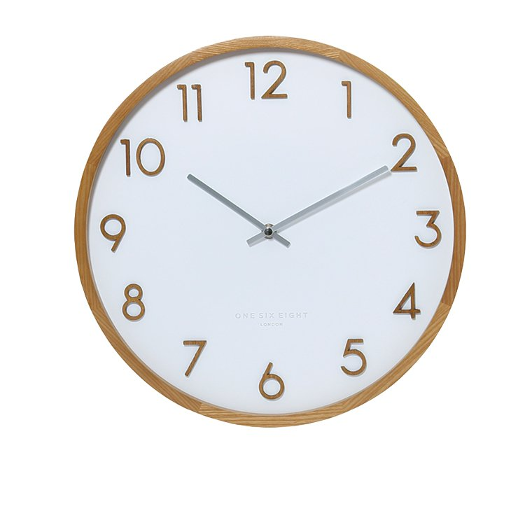 One Six Eight London Scarlett Silent Wall Clock 35cm White