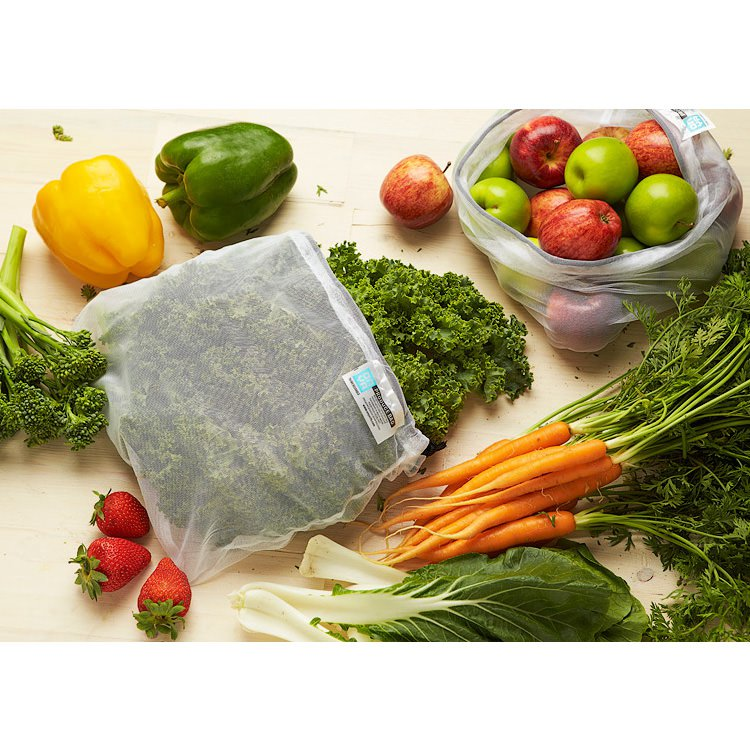 Onya Reusable Weigh Produce Bags 8pk Apple