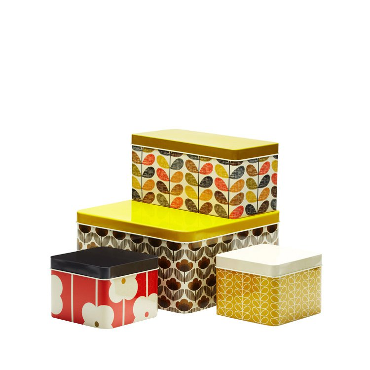Orla Kiely Square Biscuit Tins 4pc