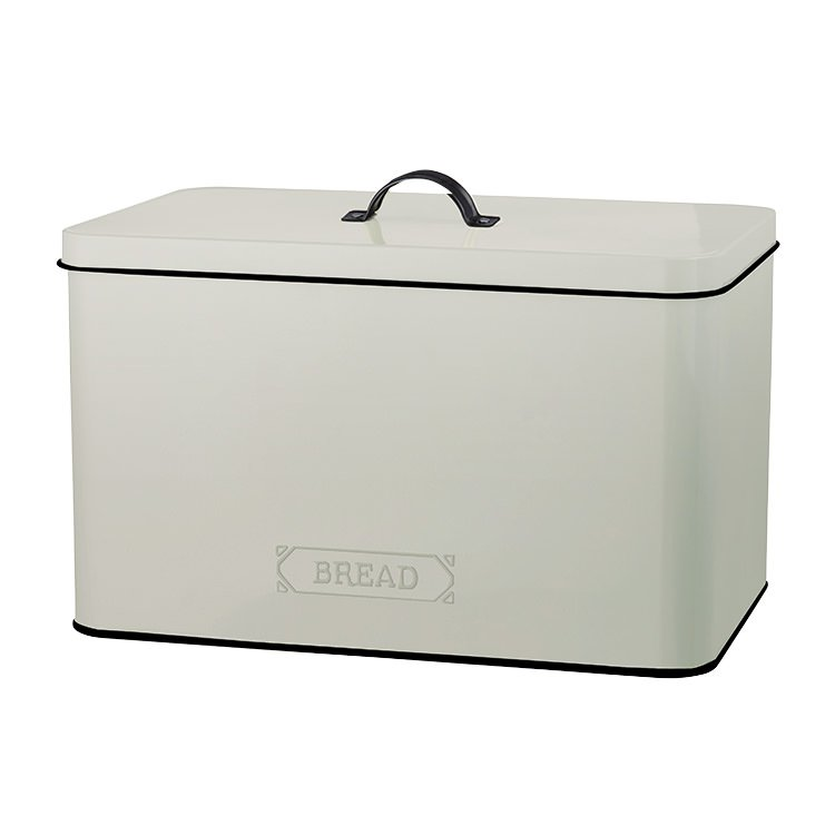Pantry Embossed Bread Bin Cream